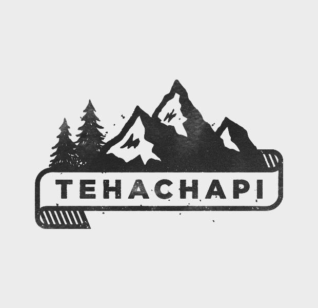 Natural trees and Mountain Logo