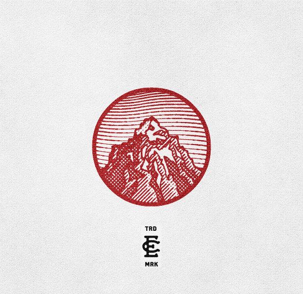 rock mountain logo design