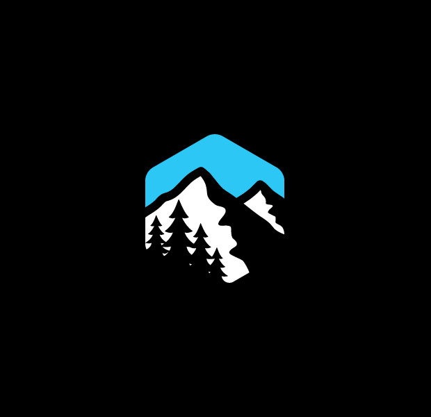 Cool Mountains with Clouds logo Design