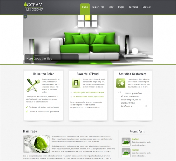 ocram business html theme