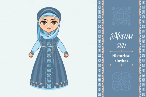 doll in muslim dress
