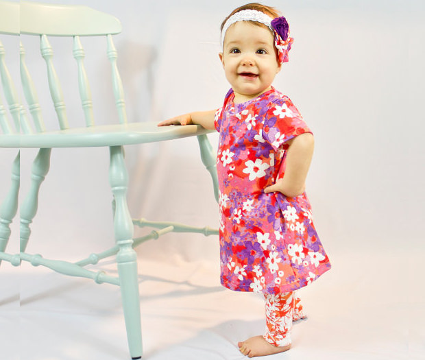 baby dress pattern long sleeve a line