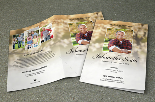 Obituary Program templates Download