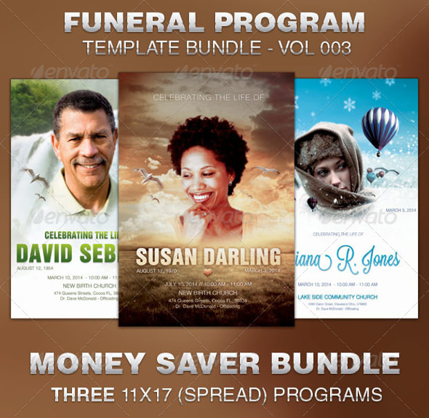 Obituary Program template Bundle
