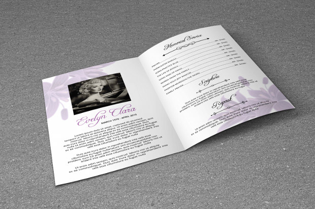 Funeral Program psd template