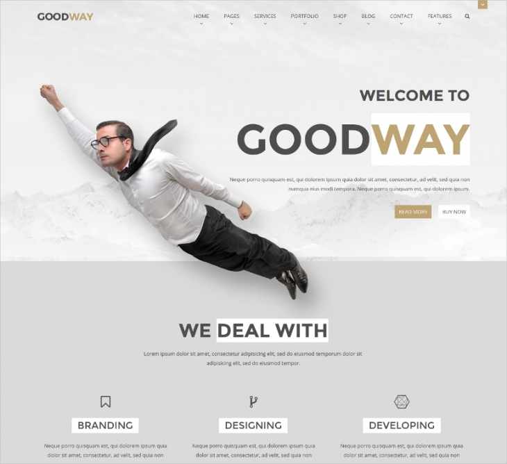 bootstrap business website template