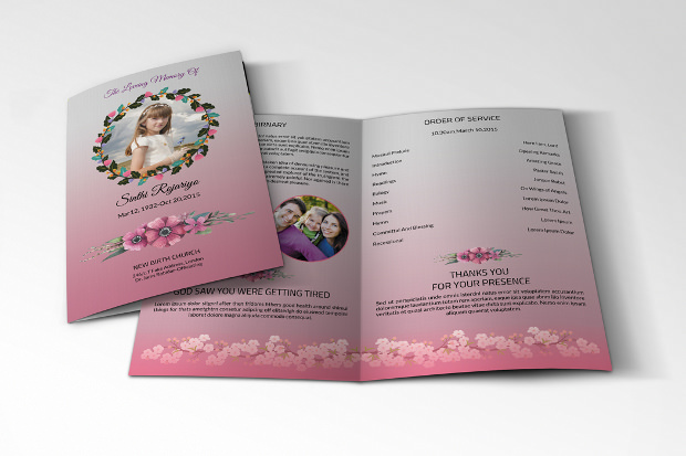 Nice Obituary program Template