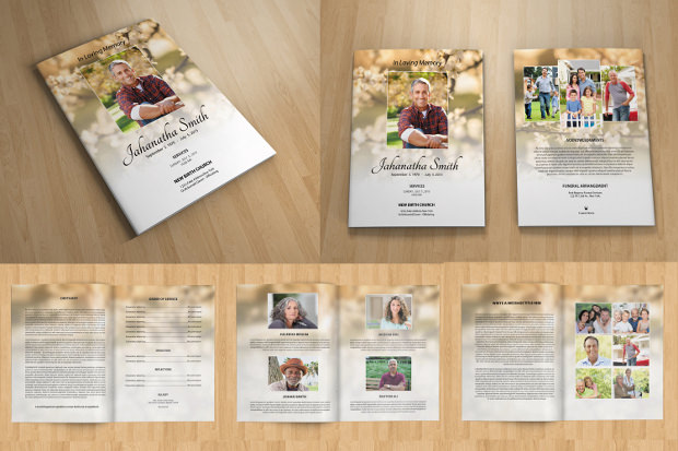 funeral program template pack