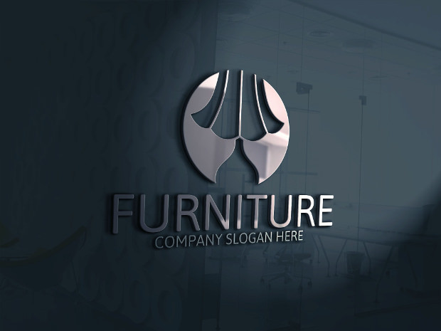 Modern Furniture Logo with Company Tag Line
