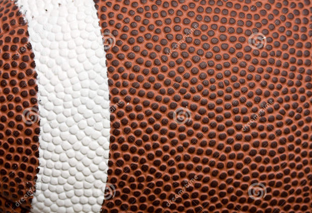 Brown Foot ball striped white American textures