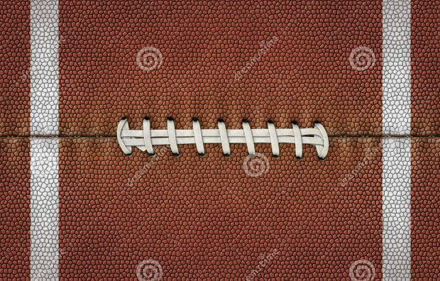 Football Leather Texture with white Lace