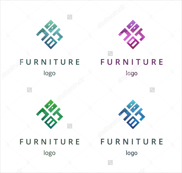 Furniture Logo with Different Colors
