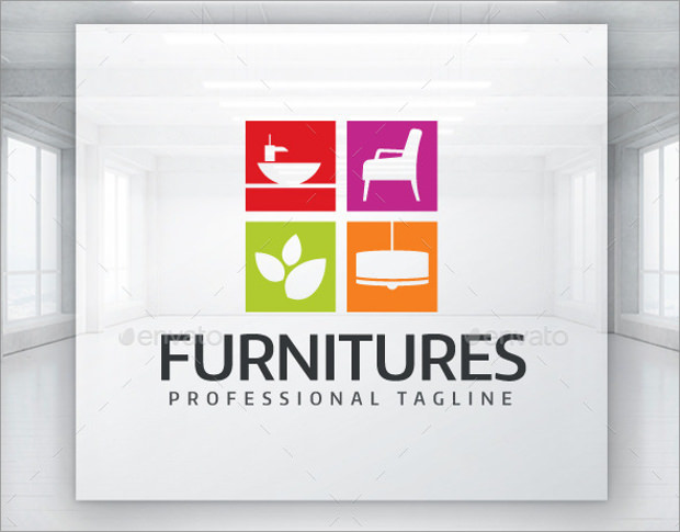 Stylized Home Furnitures Logo