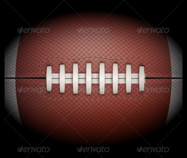Oval Football Leather Texture
