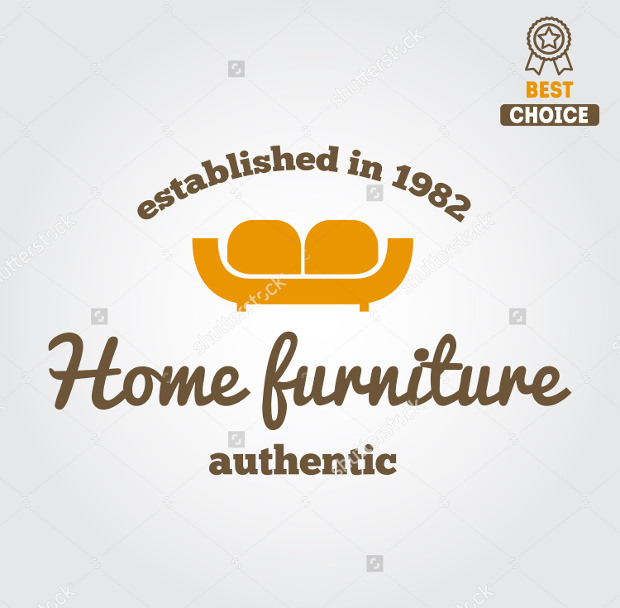 Authentic Home Furniture Shop Logo