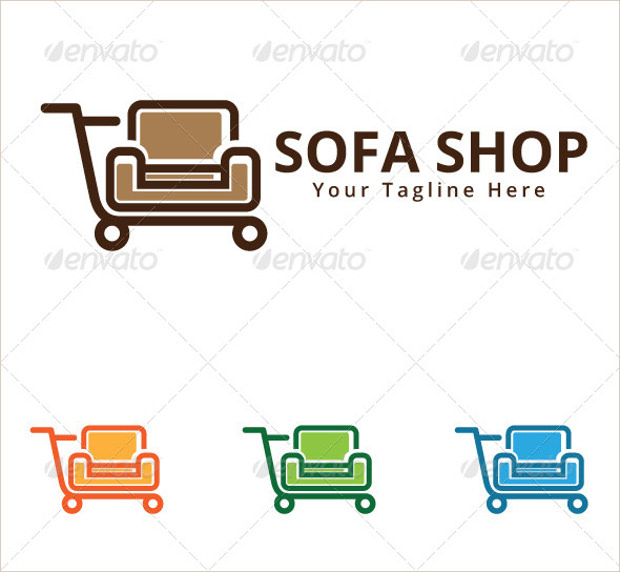 Sofa Shop Logo with Tagline