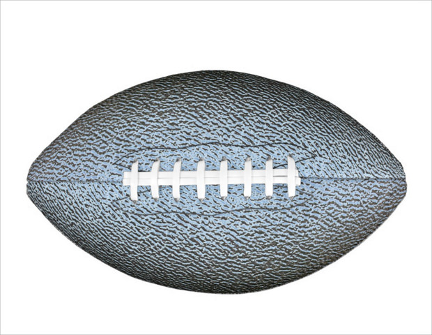 Silver Color football Texture