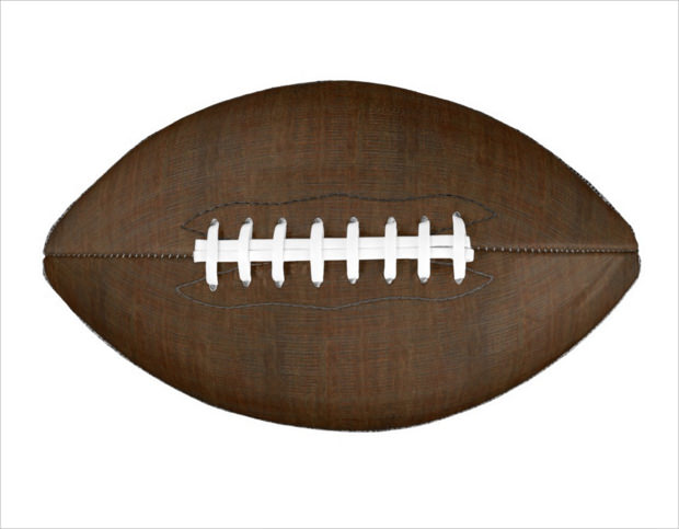 Rustic Bamboo Wood Football Texture