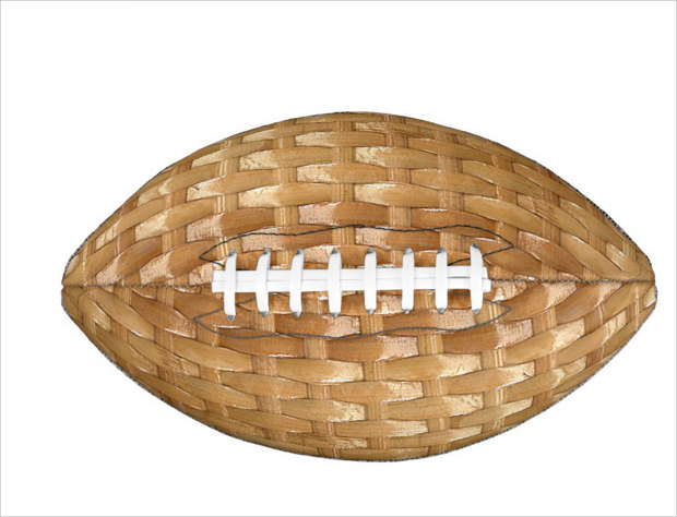 Basketweave Texture Football Texture