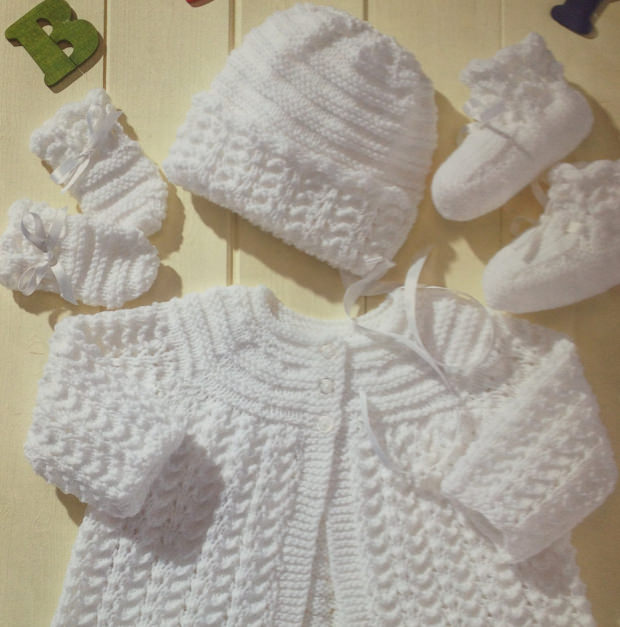 Knitting Designs For Newborn Babies : Vintage baby sweaters knitting patterns gray cardigan