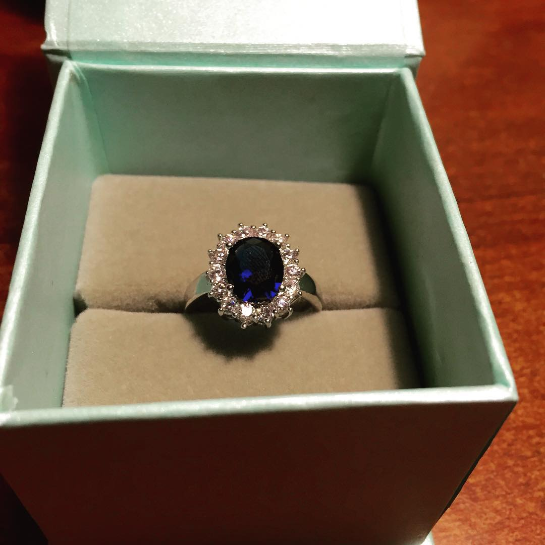 beautiful blue wedding ring