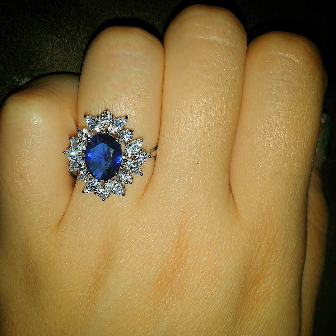 lovely blue diamond ring