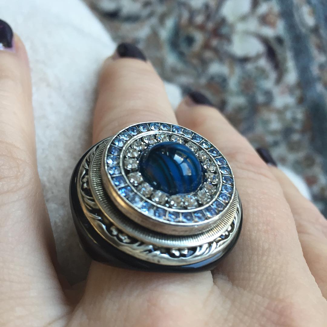 platinum blue wedding ring