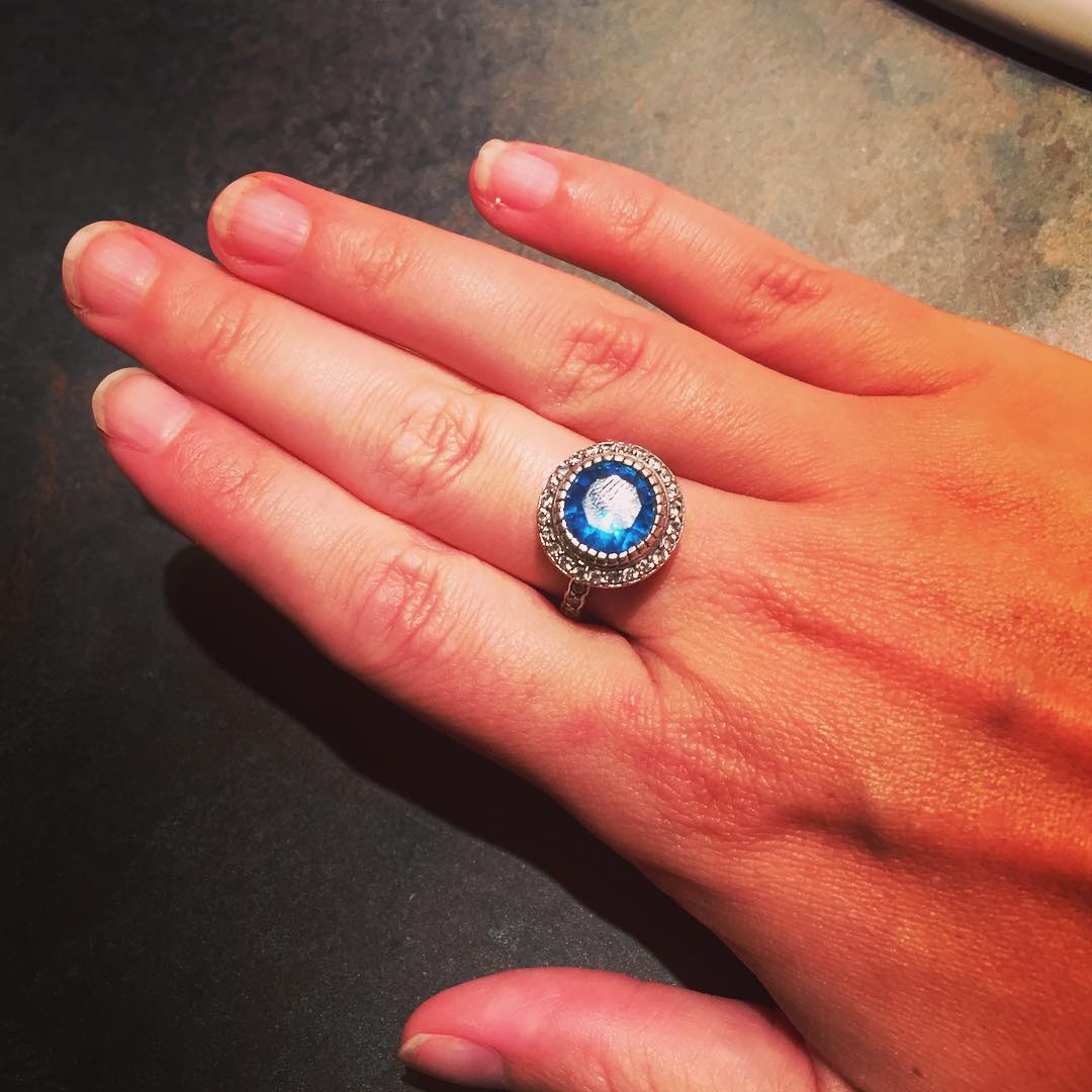 pretty blue ring for wedding