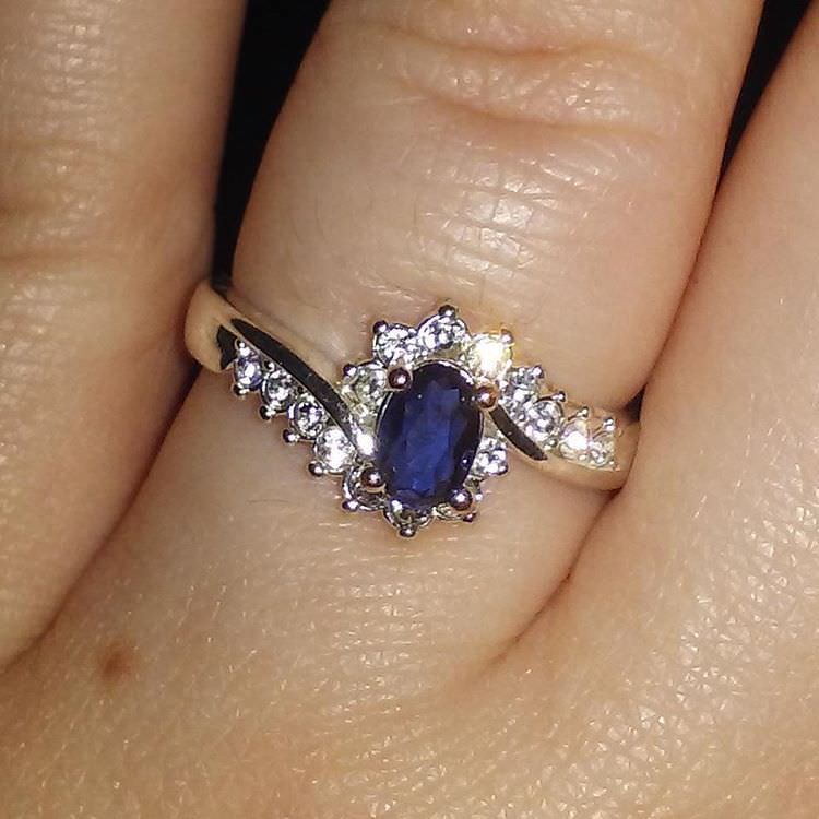 shiny blue ring