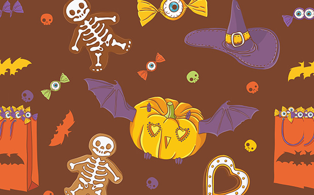 colourful scary pumpkin carving patterns
