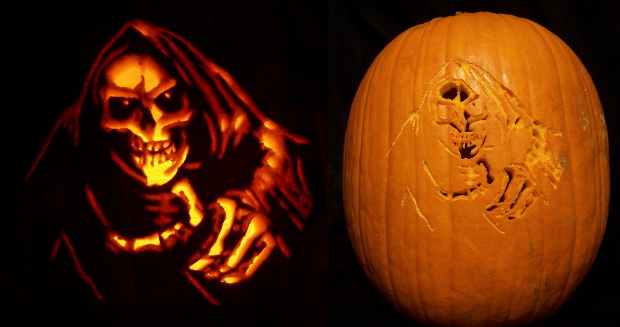 Reaper Scary Pumpkin Carving Patterns