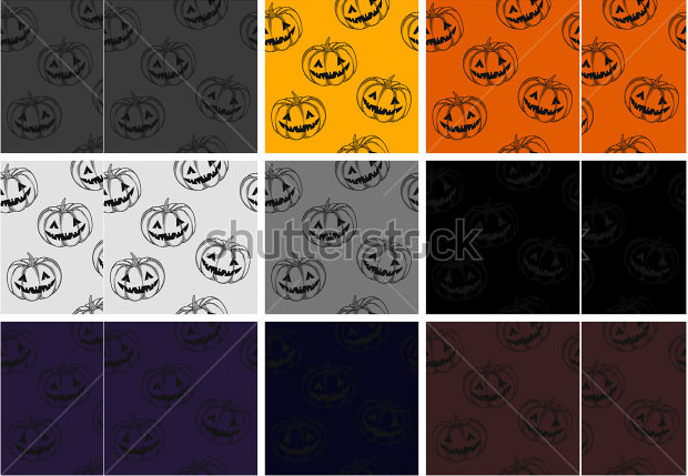 smiling scary pumpkin carving patterns