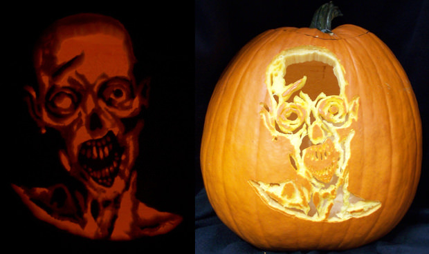 gourd scary pumpkin carving patterns
