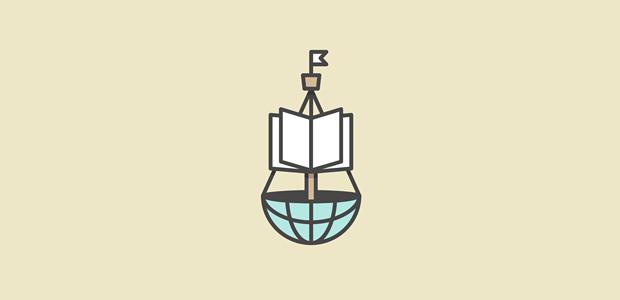 Creative book logo