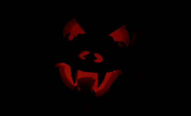 black scary pumpkin carving patterns