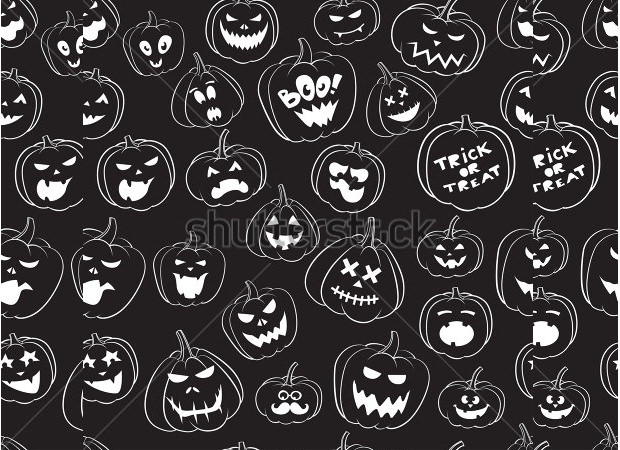Vintage Scary Pumpkin Carving Patterns