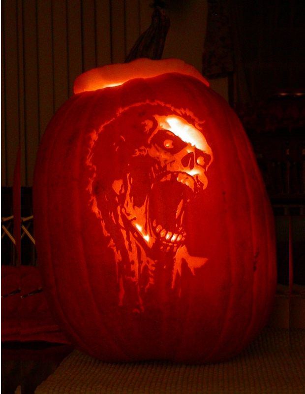 New Zombie Scary Pumpkin Carving Patterns