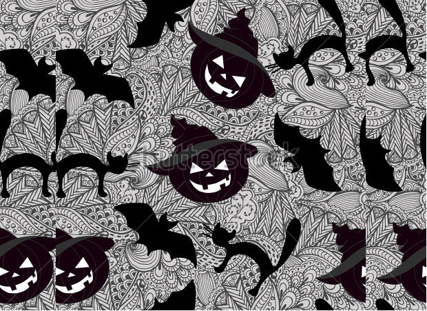 bat and scary pumpkin carving patterns