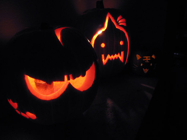 dark scary pumpkin carving patterns