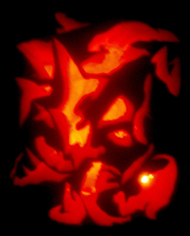 Skull Scary Pumpkin Carving Patterns