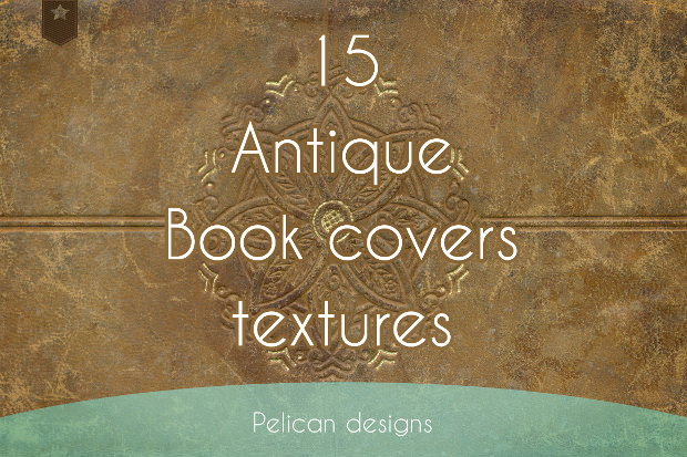beautiful antique book cover texture