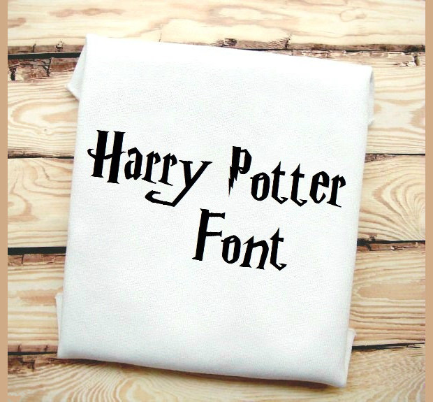 Harry Potter Inspired font machine embroidery design