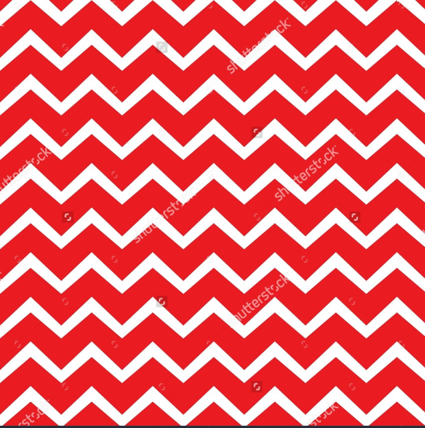 White Line Pattern With Red Background
