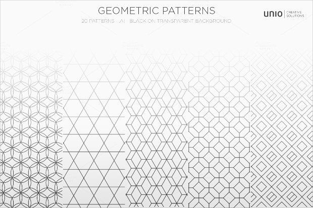 geometric white lined pattern