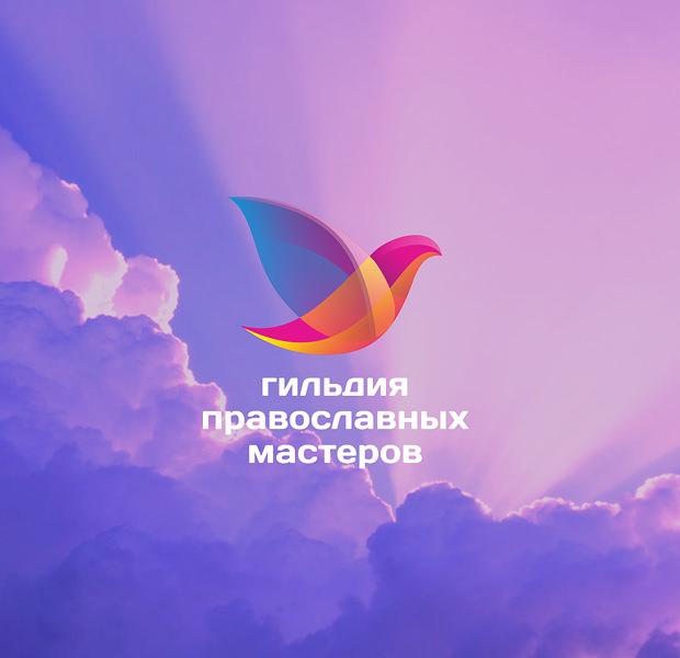 beautiful rainbow color dove logo