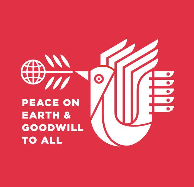 peace symbol dove logo illistration