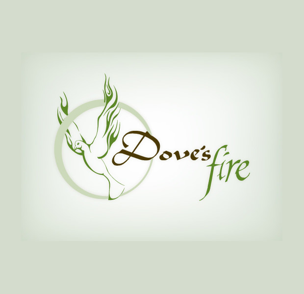 Dove With Fire Wings Logo