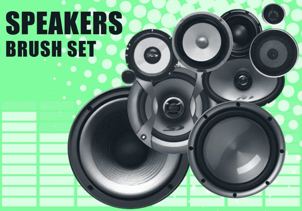 Music Speakers Brushes Set