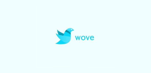 cute little dove bird logo