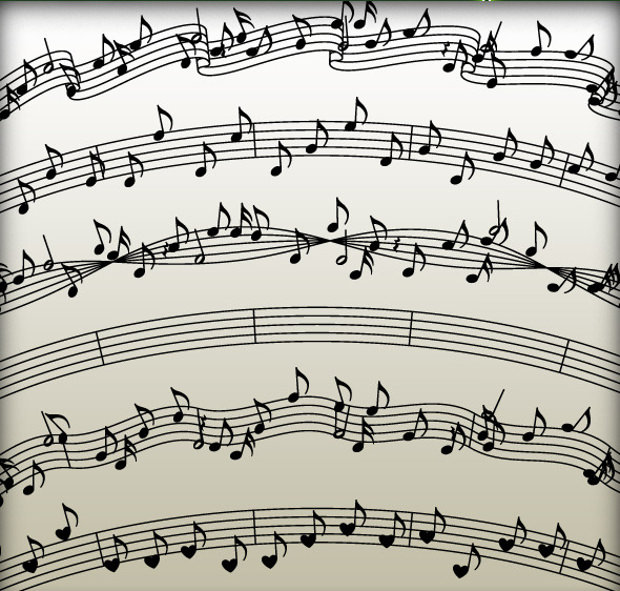6 Unique Variations of Music Note Brushes